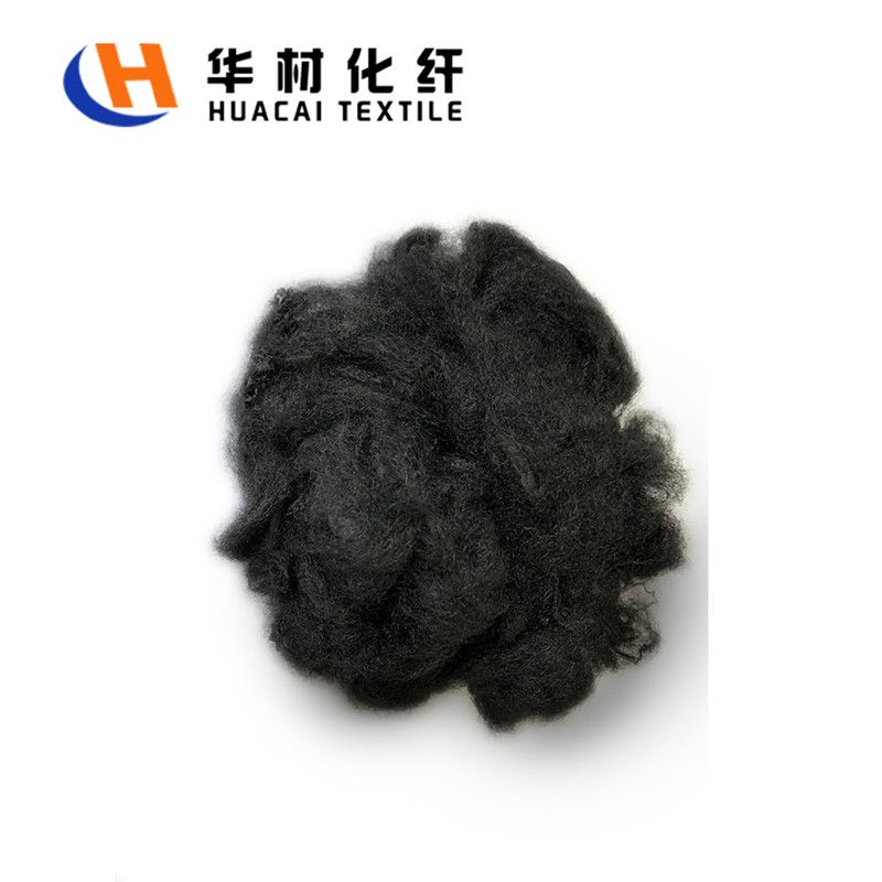 virgin black polyester staple fiber 1.2d 32mm