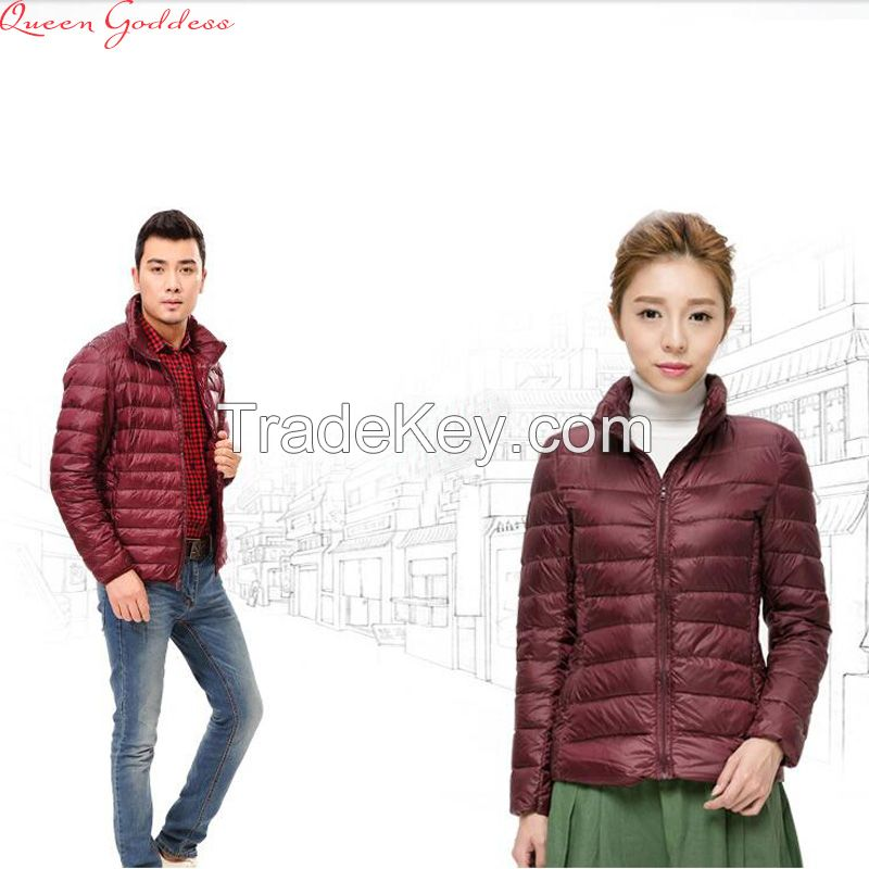 Men and women down jacket down jacket short section Slim collar Korean