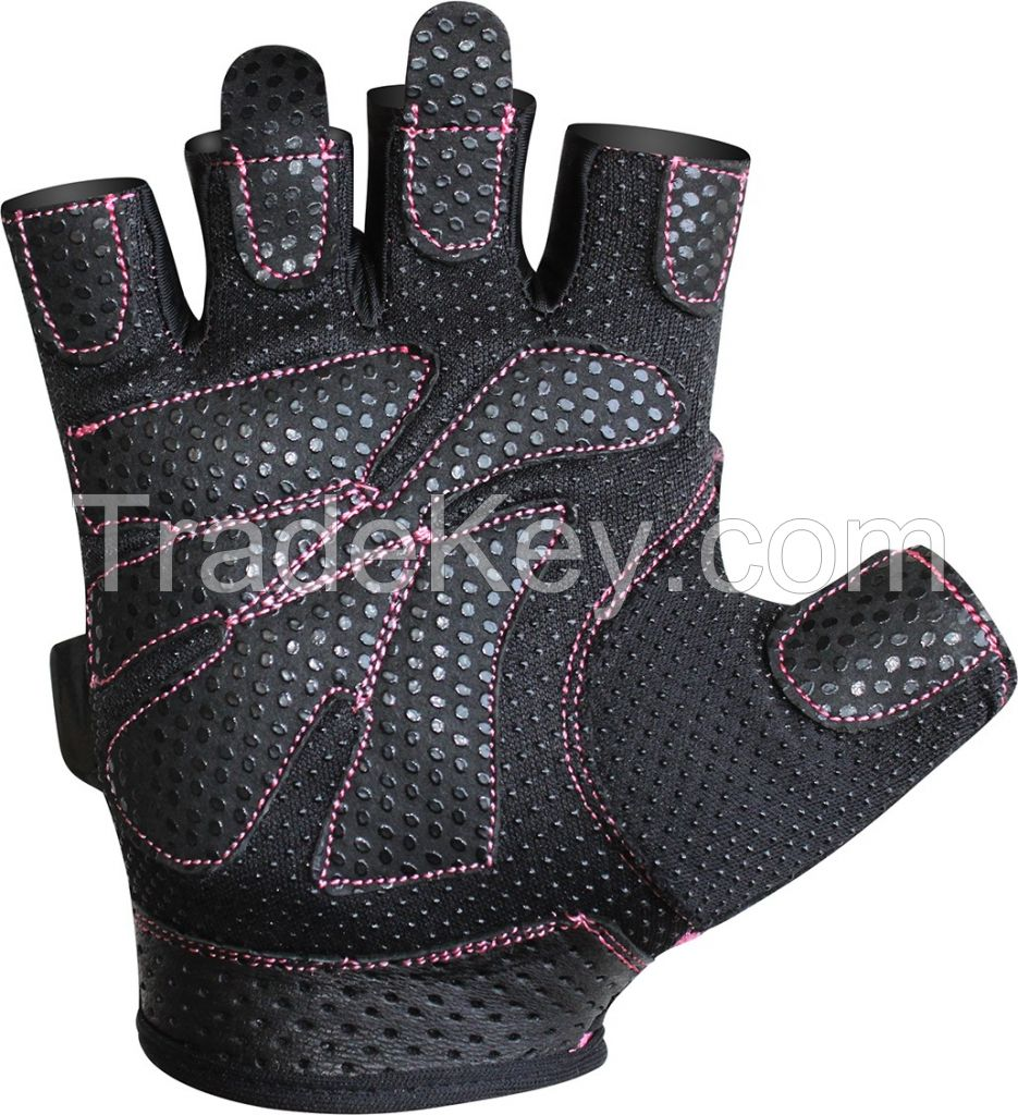 Weight Lifting Gloves With Wrist Support For Gym Workout Crossfit Half Finger Pro Ladies Professional Gloves