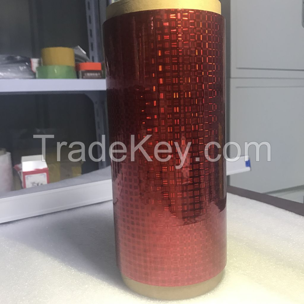 color red metalized film hologram printing usage