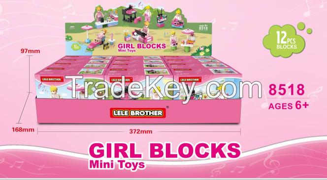 Educational building block, lego type block, block, brick