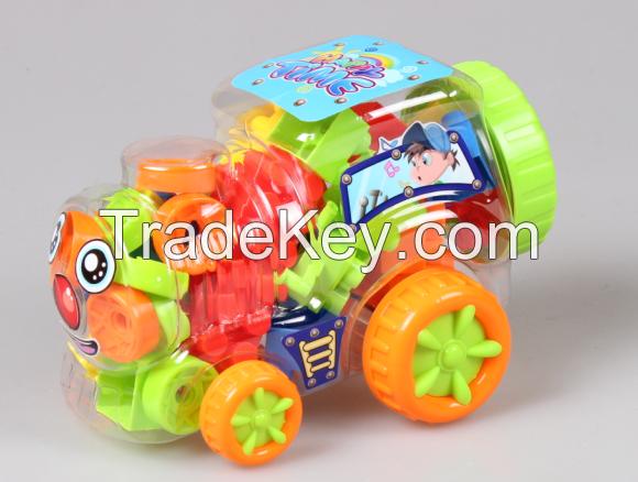 Block, PP educational building block  Children enlighten toys DIY assembly block Car canned