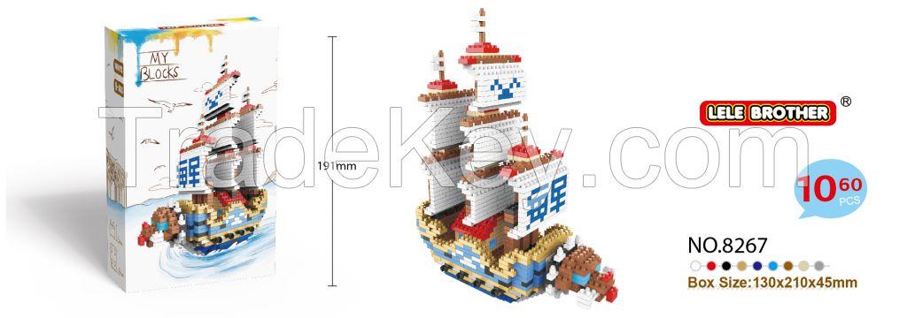 NANO BLOCK, DIY ASSMEBLE BUILDING BRICK, CHILDREN TOYS, NAVAL SHIP