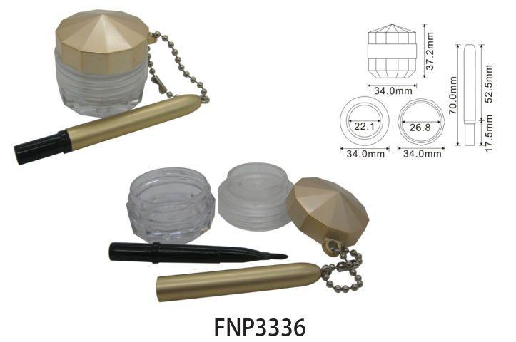 Golden Eyeliner Cream Jar with brush