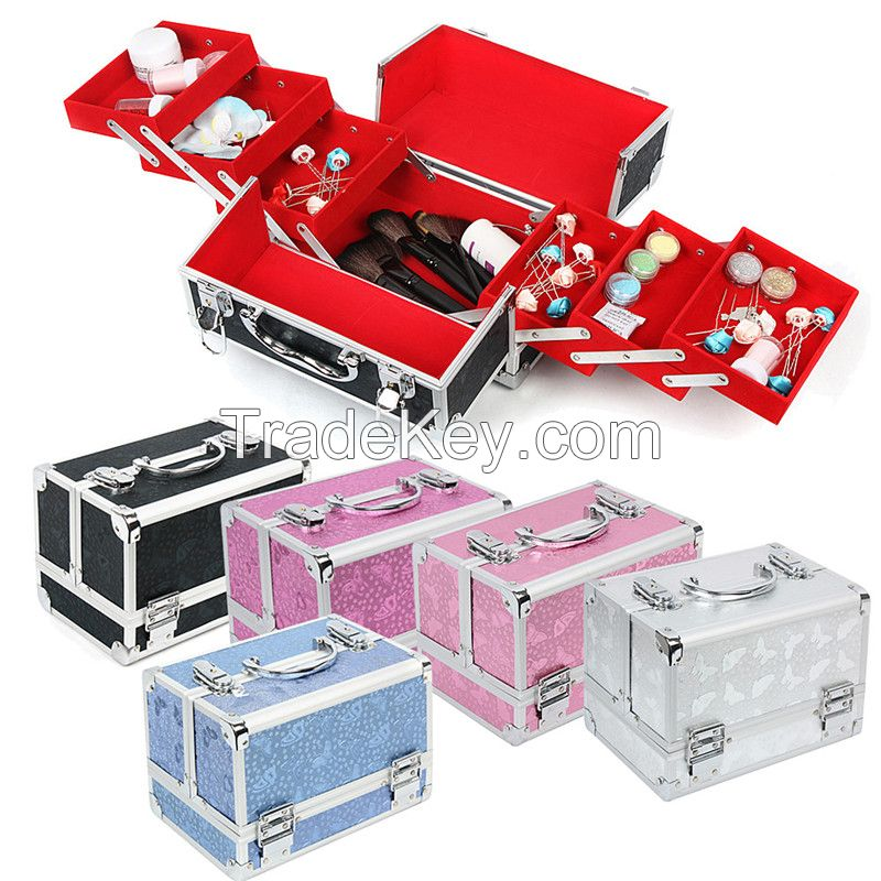 Professional aluminum makeup case jewelry display cases JH07