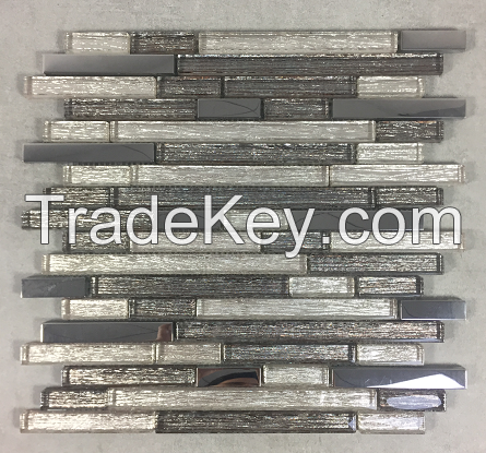 Mix Color Glass Mosaic Tile For Kitchen Wall