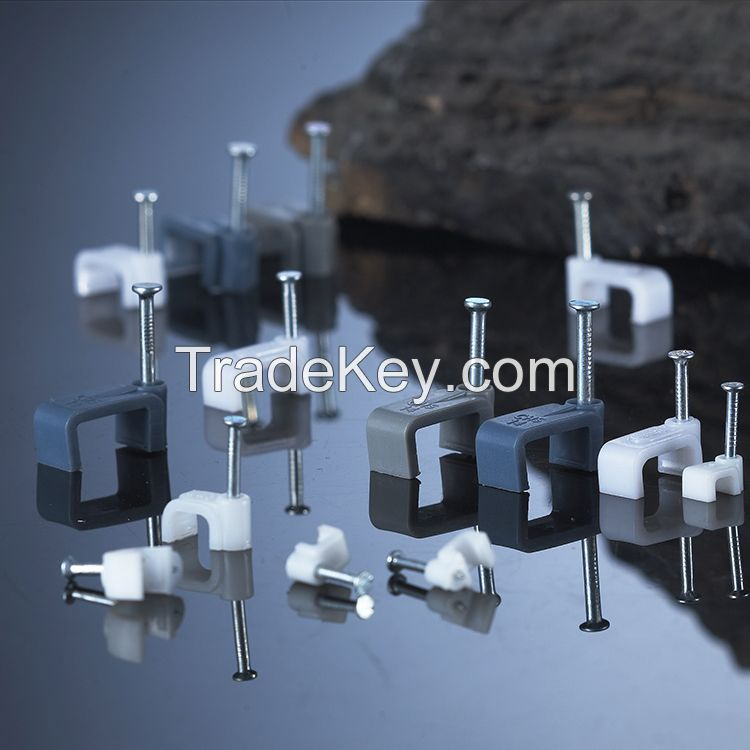 Circle Cable Clips 6mm 100pcs Wall Mount Dia Electric Cable Circle Nail Clips Fasteners