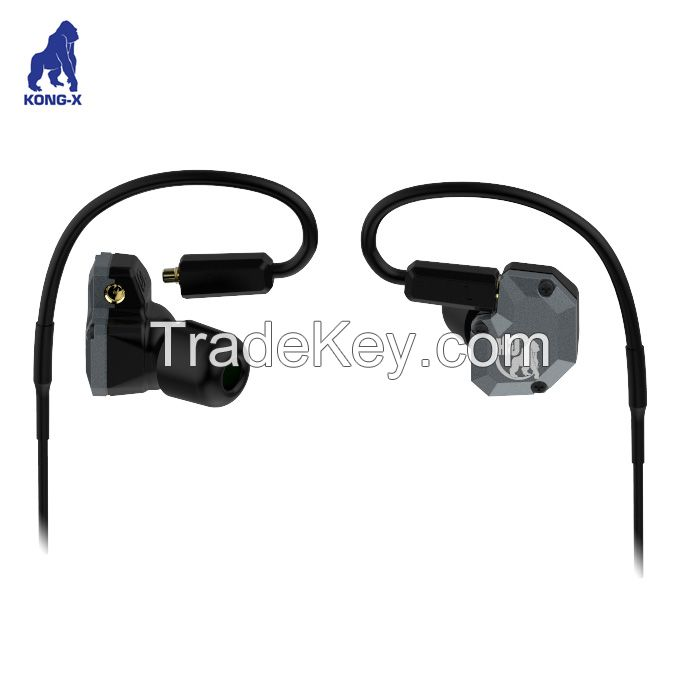 hybrid driver balanced armature and titanium unit MMCX detachable headphone