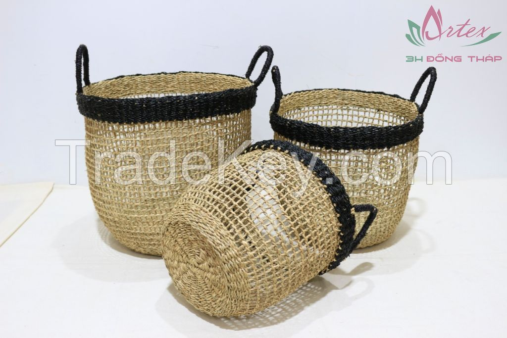 Hot item seagrass basket for home furniture-BH4329A-3MC