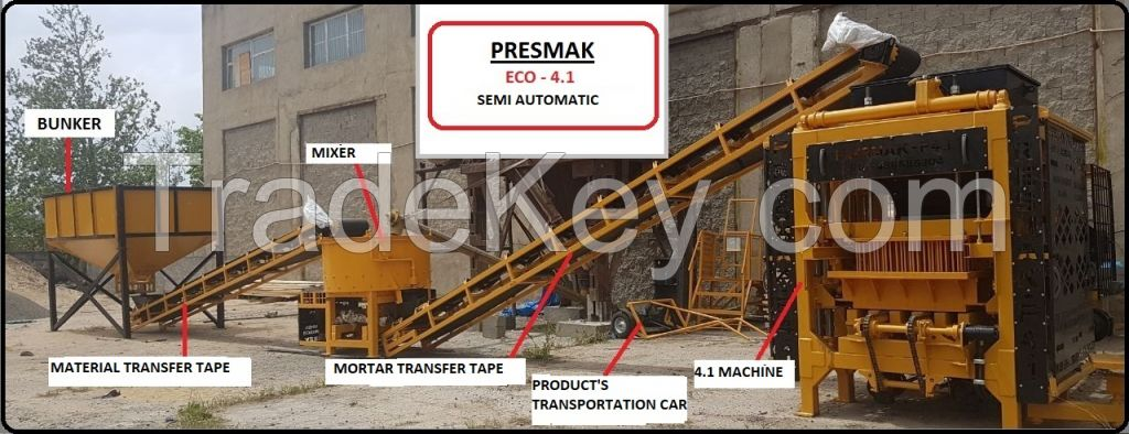 HOLLOW BLOCK (PAVING-CURBSTONE) MACHINE � EKO 4.1 SEMI-AUTOMATIC PLANT