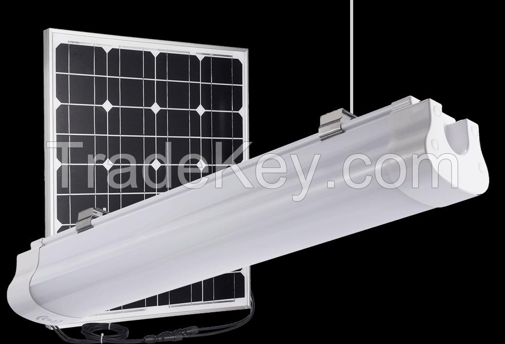 All in one solar tri-proof batten light