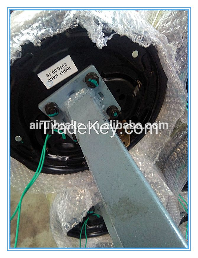 Square Trailer Axle With 10 Inch Electric Brake (parking lever) ----trailer spare parts for camper trailer