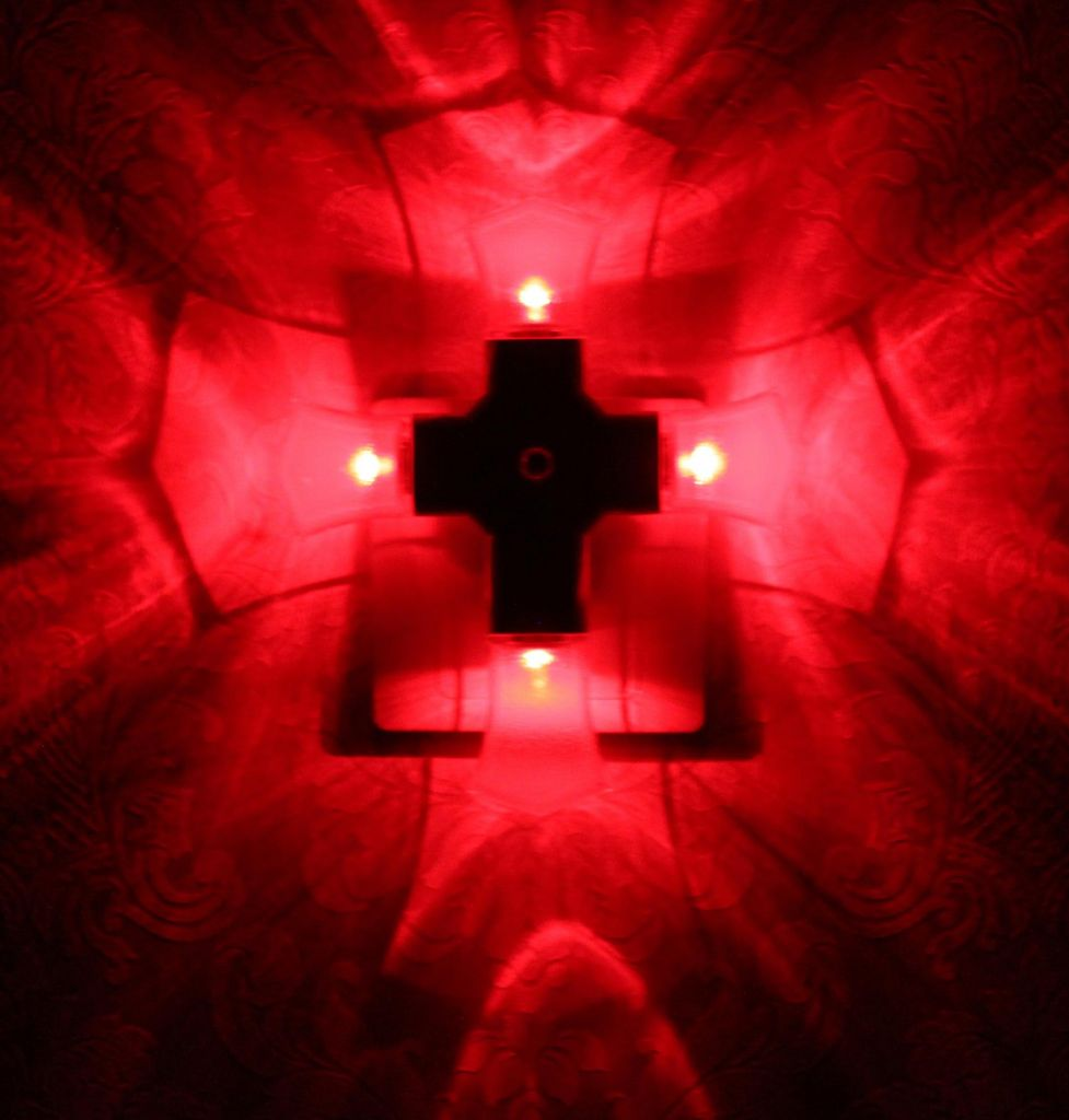 LED Cross Night Light (Shield Shape) Auto Sensor