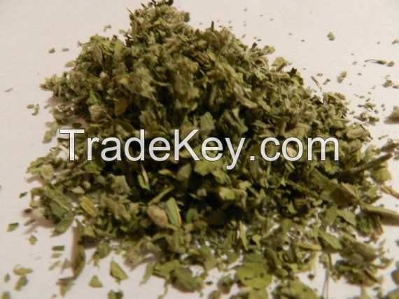 Natural Herbal Cigarettes Raw Materials- Dried Marshmallow Leaves Cut and Sifted!