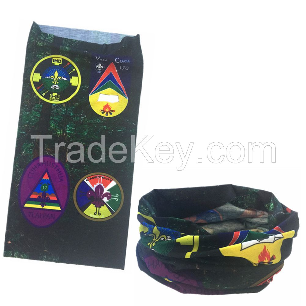 Factory OEM Produce Customized Logo Printed Polyester Buff Headwear