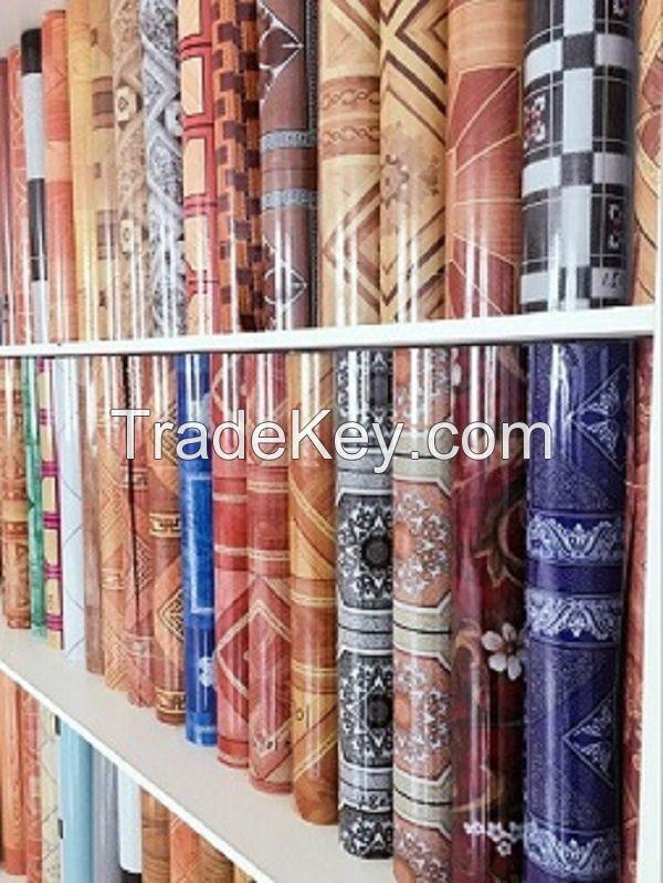 Waterproof PVC Flooring Roll vinyl floor covering 0.35mm