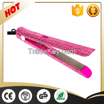 magic crystal rhinestone mini professional hair straightener electric custom bling flat iron private label flat iron