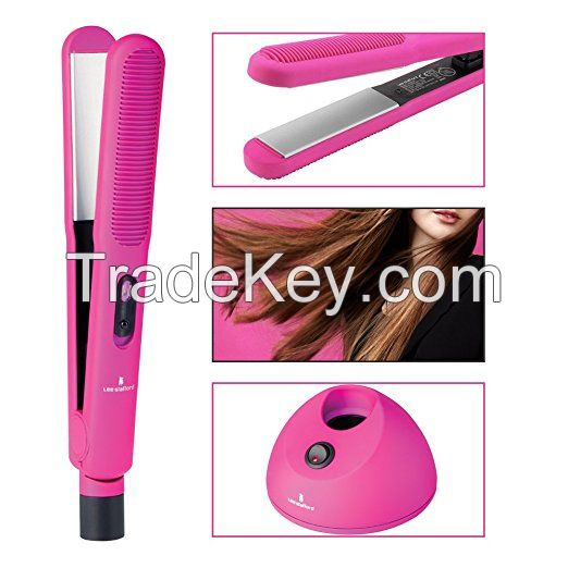 2017 HOT SELL Professional steam ceramic rechargeable cordless mini hair straightener private label flat iron