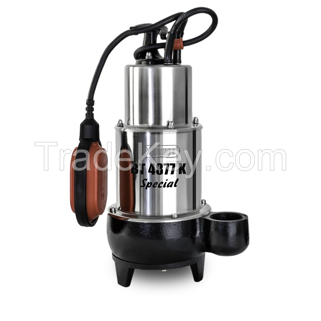 Submersible cutter pumps for sewage