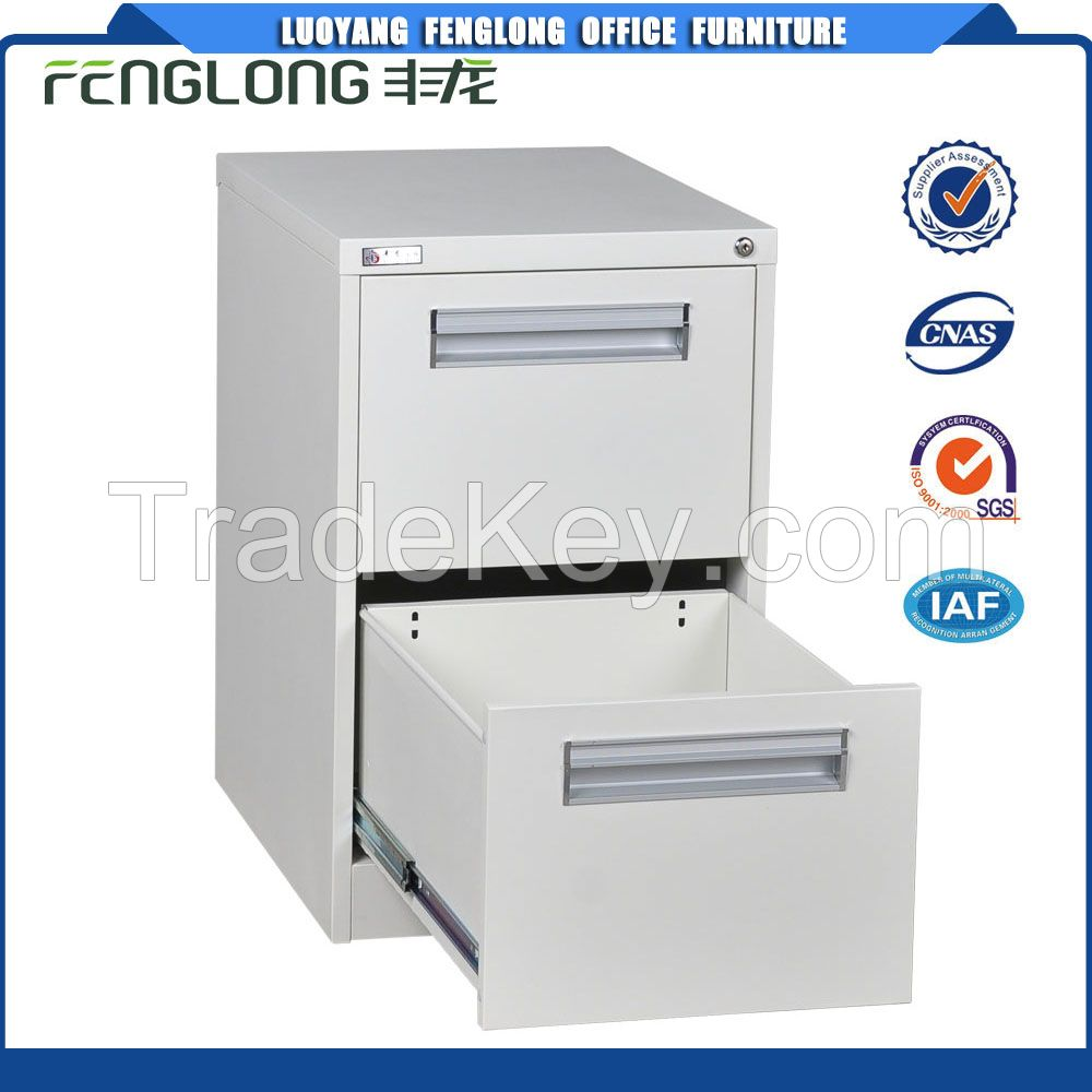 Hot sale metal file cabinet 2 drawer vertical steel cabinet