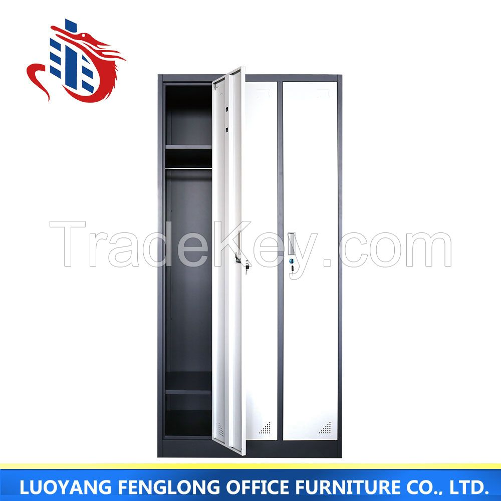 3 door high quality home wardrobe, steel cheap storage wardrobe