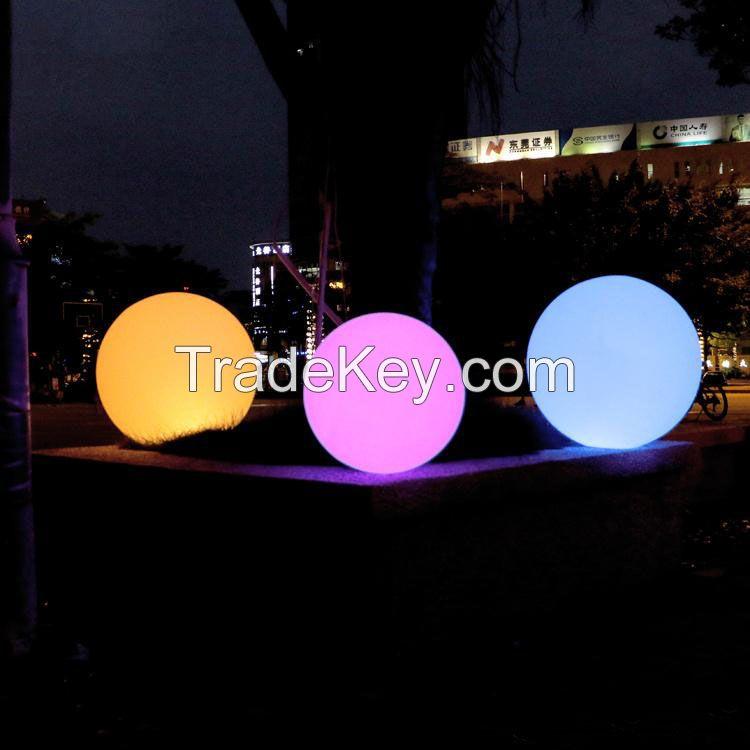 illuminated led light globe glowing ball