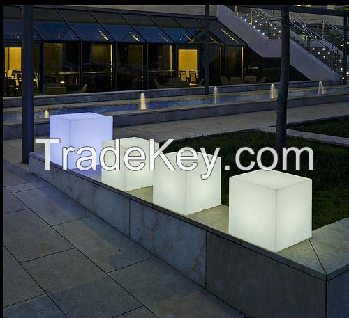 led cube stool square ottoman