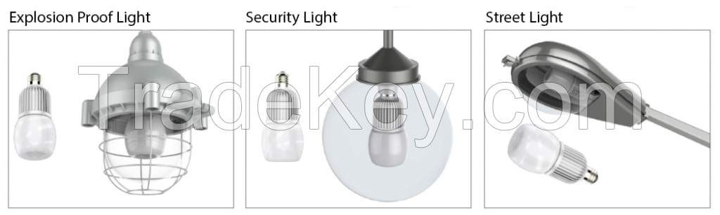 Icepipe LED Bulbs for Explosion Proof and Air Tight Fixtures