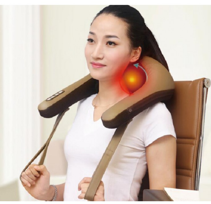 2019 china high quality electric kneading massage shawl for neck shoulder waist massager
