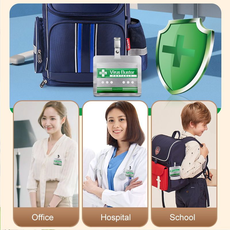 New Explosion Disinfection Card Air Disinfection Protection Children Carry Space Anti-virus Anti-mite Disinfection Card