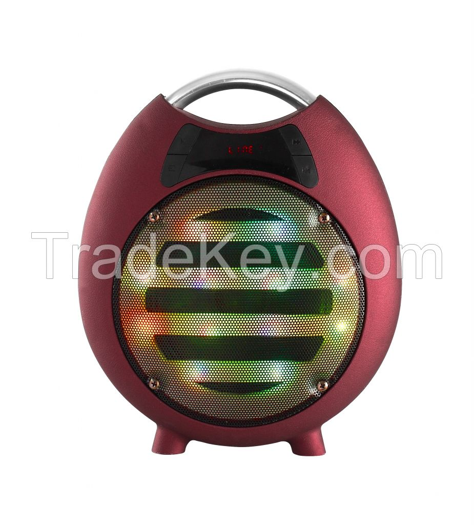 Portable battery speakers