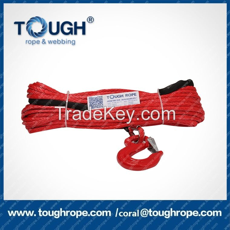 manufacture uhmwpe synthetic winch rope towing line