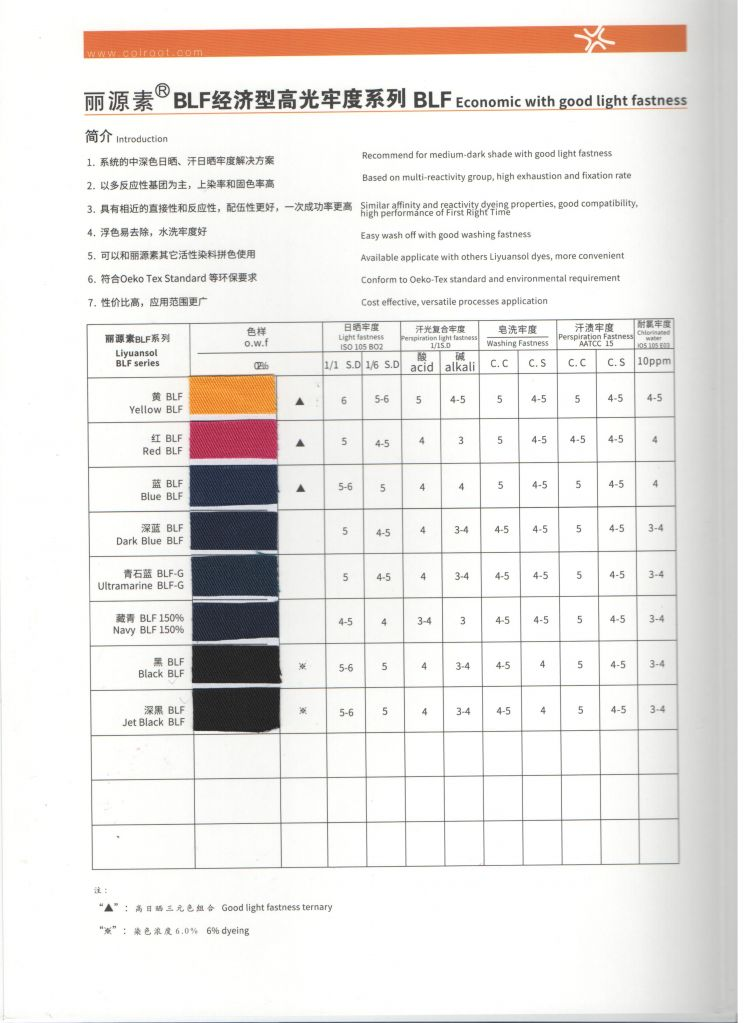 Reactive Dyes Liyuansol Dark Blue Blf with High Quality and Economic Price