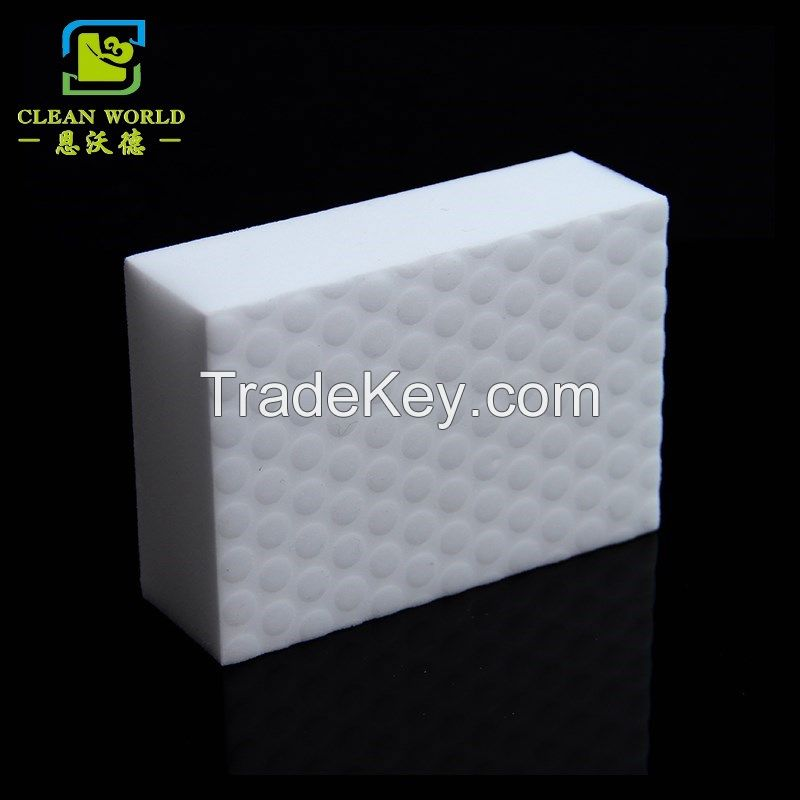 compressed magic melamine sponge with pu of daily necessity product