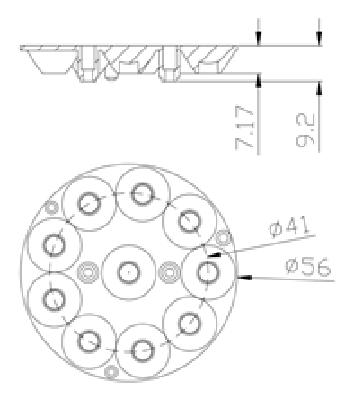 high power LED  PAR30 lens GSH16141