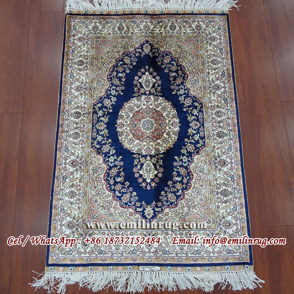 Oriental Handmade Silk Persian Rugs For Sale