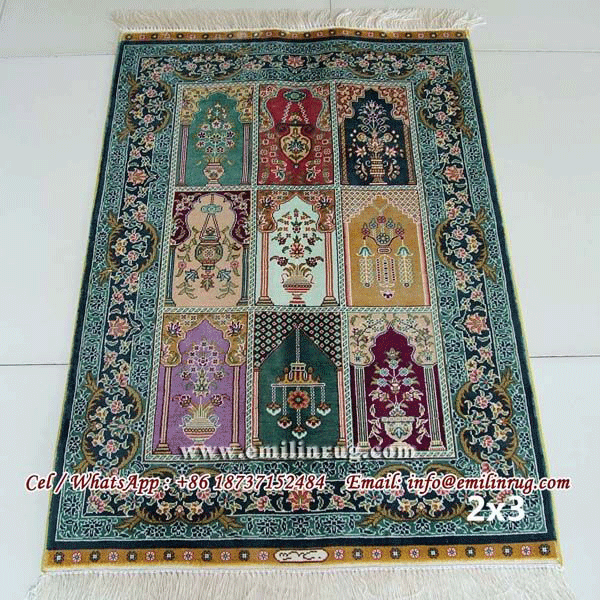 Handmade Turkish Silk Carpets Rugs Four Season Garden Design