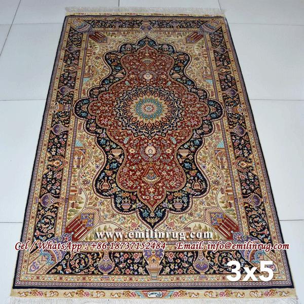 Oriental Handmade Silk Persian Carpets Price