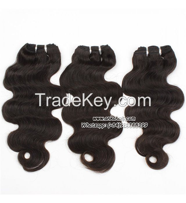 Wavy Weaving Human Hair 100% Natural Virgin Wholesale Brasilian Hair Remy