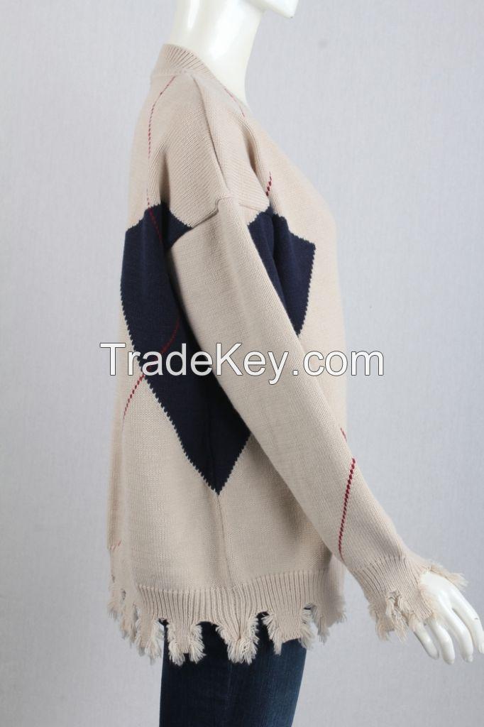 M71036 Woman Block-contrast Cardigan