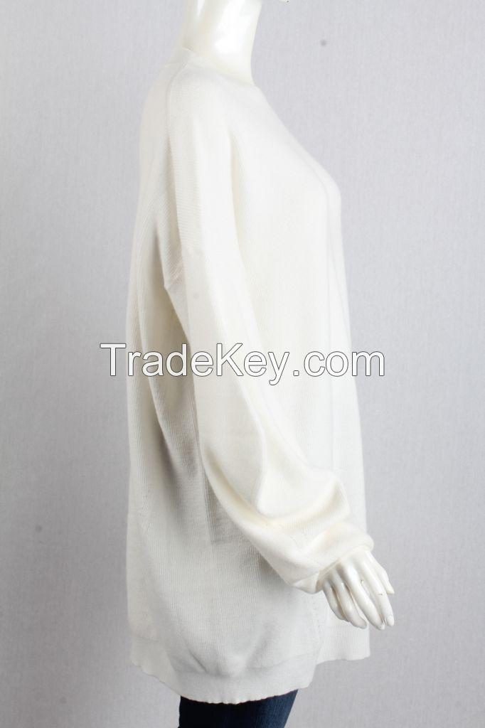 M71026  Oversized Bubble Sleeve Crewneck Women Pullover