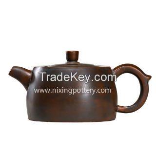 Chinese Qinzhou Nixing Pottery Pure Handmade Brandreth Purple clay ore Tea Pot 330ml