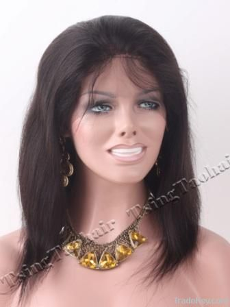 12inch 1B Silky Straight Indian Remy Hair Full Lace Wig