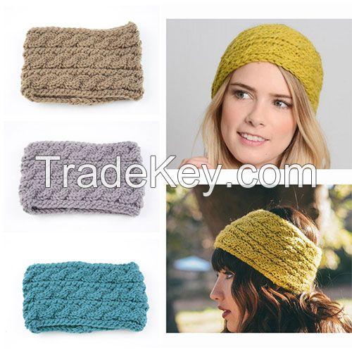 Good quality wide thick winter headband knitted fashion headband women