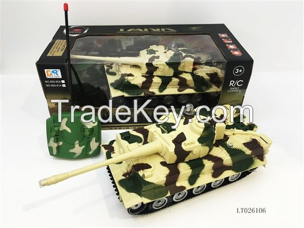 hot sell 1:24 remote control tank with headlights