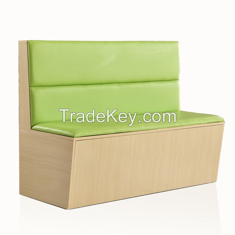2 channel wood double side booth seating