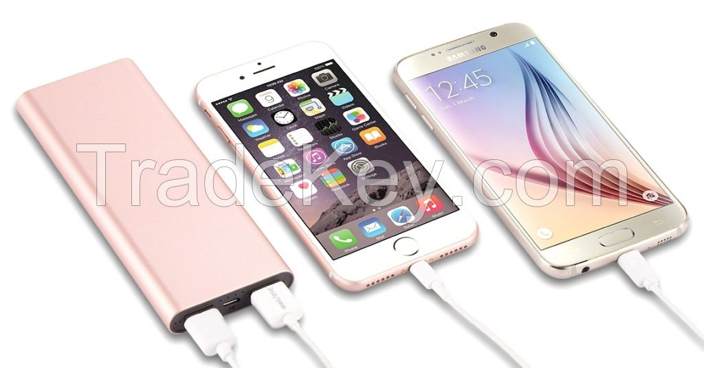 Portable Mobil Power Bank 6000Mah Slim Style Dual USB Output