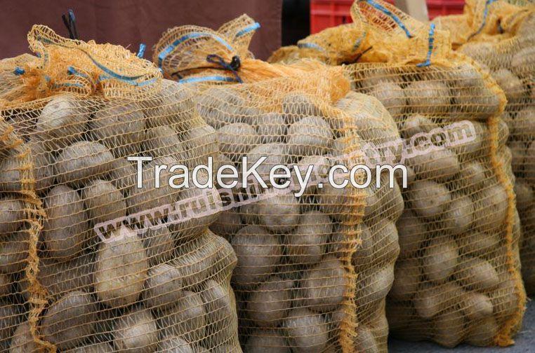 Raschel mesh bag for packing potatoes