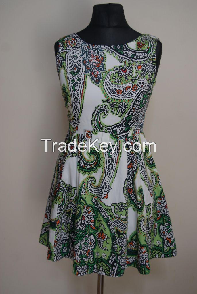Casual ladies cotton dresses