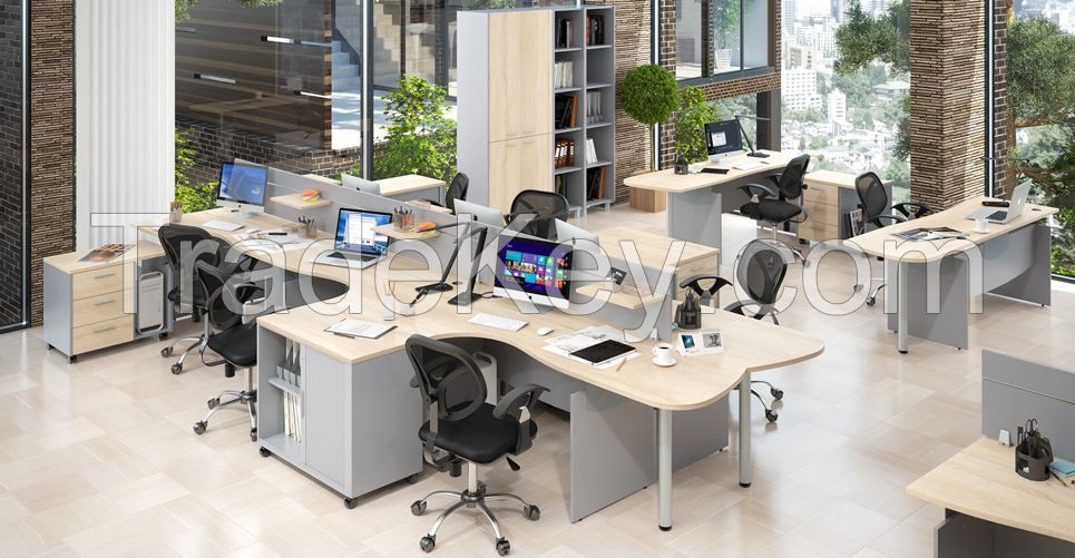 Office chairs, sofas, tables, cabinets